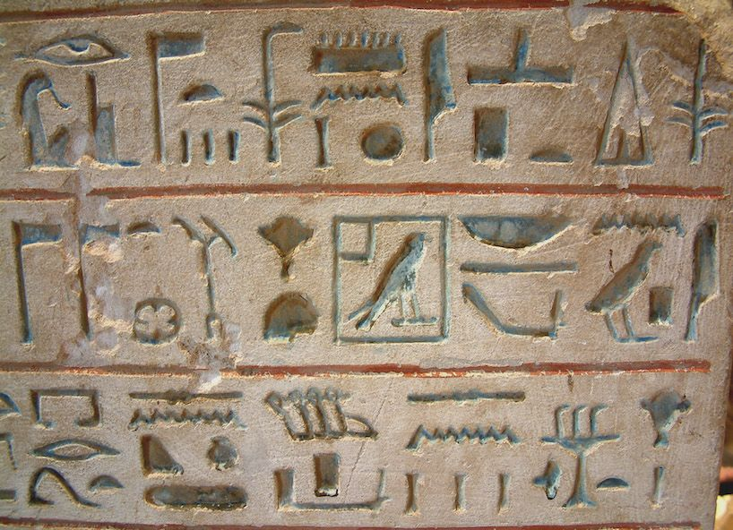 hieroglyphes invention ecriture