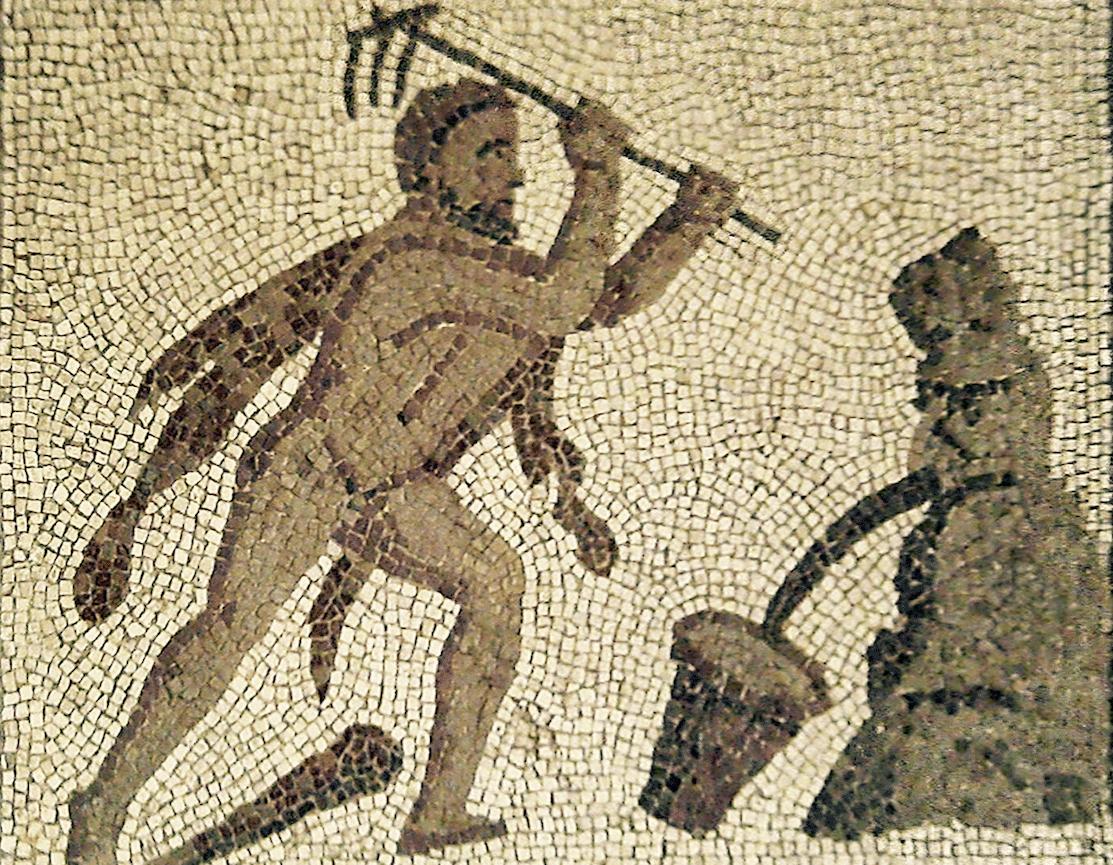 Mosaïque romaine retrouvée près de Valence