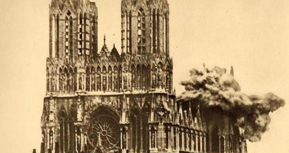 Cathedrale Reims guerre