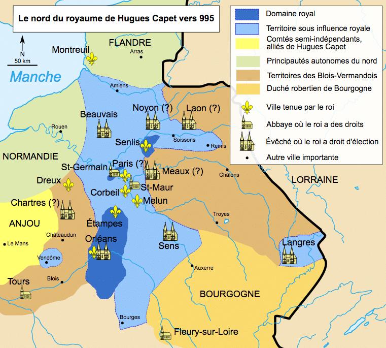 Hugues Capet domaine royal - La culture générale