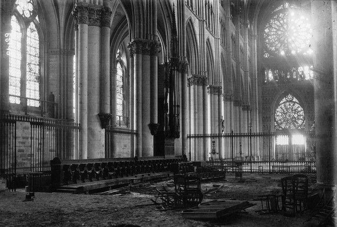 reims bombardement cathédrale