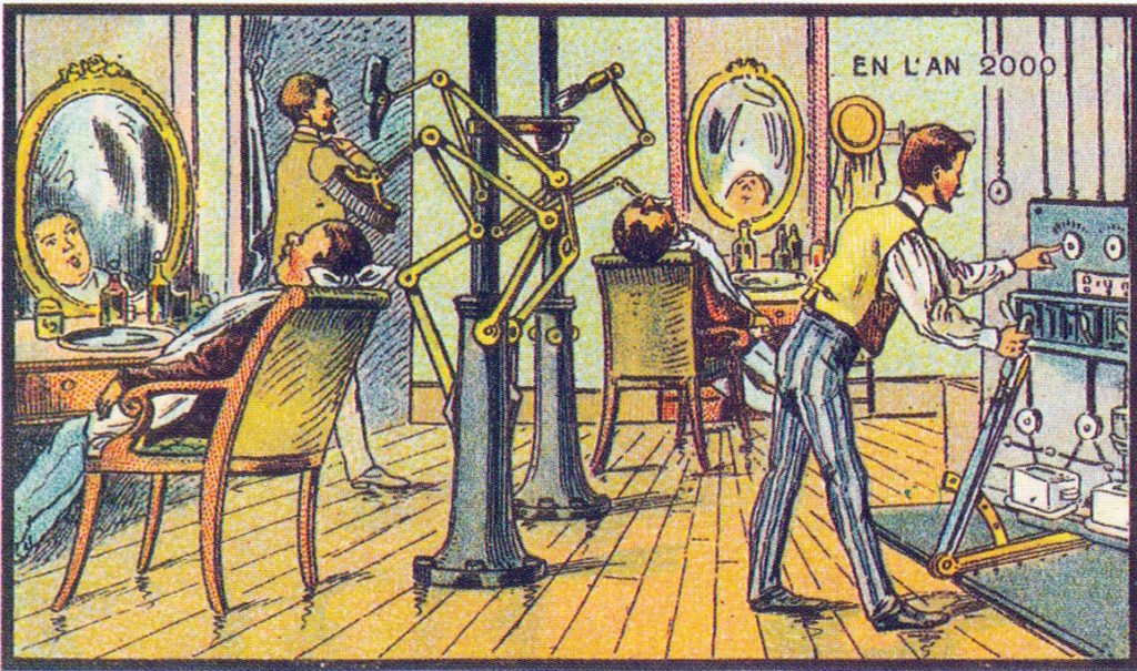 l'an 2000 imagine en 1900 barbier