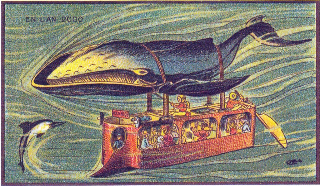 l'an 2000 imagine en 1900 bus baleine