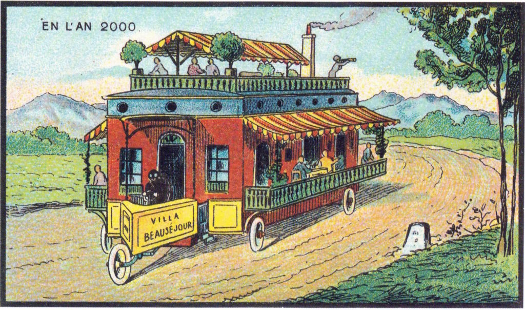 l'an 2000 imagine en 1900 camping car