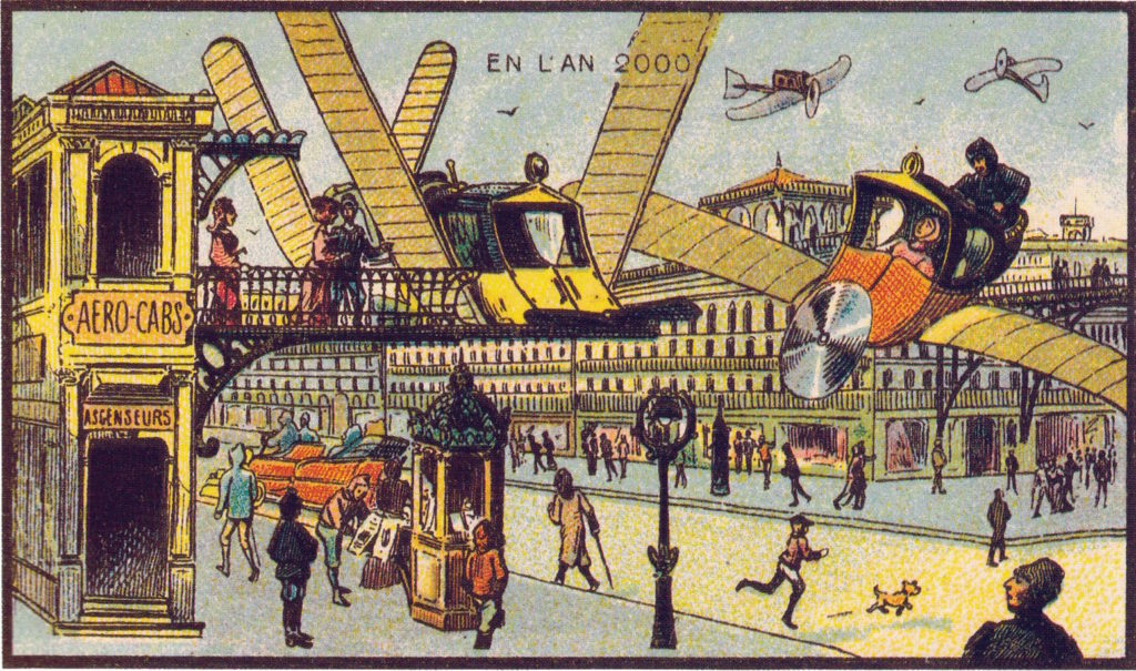 l'an 2000 imagine en 1900 taxi