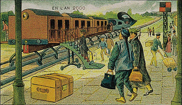l'an 2000 imagine en 1900 train