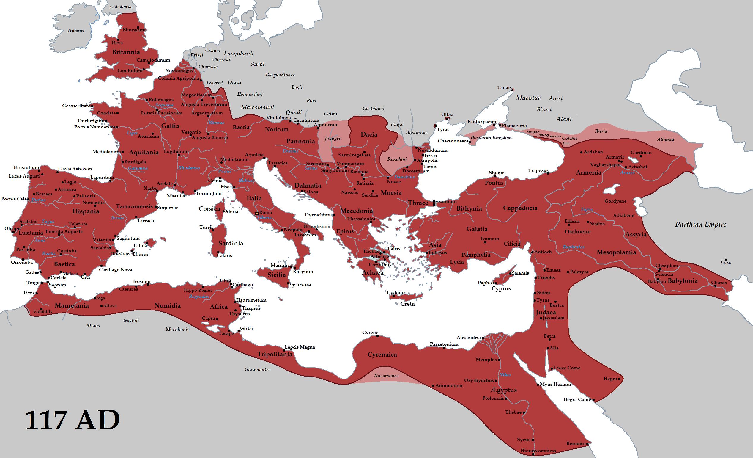La culture générale - carte empereur romain