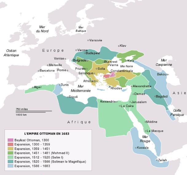 Carte Empire ottoman apogée maroc