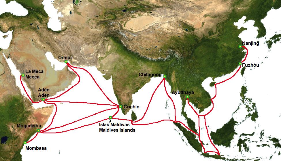 Zheng He carte