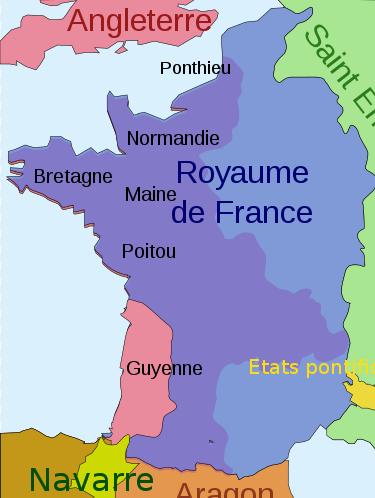 guerre de cent ans carte 1330