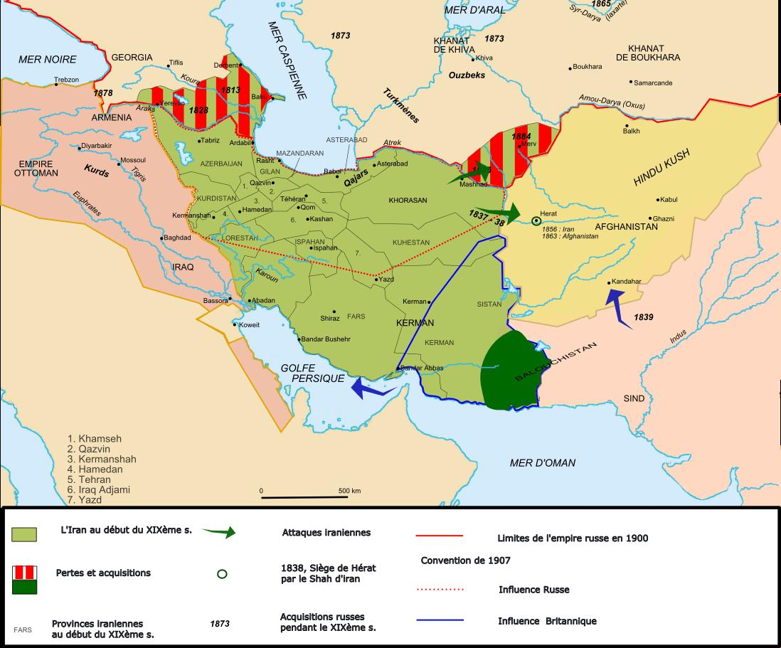 revolution iranienne carte