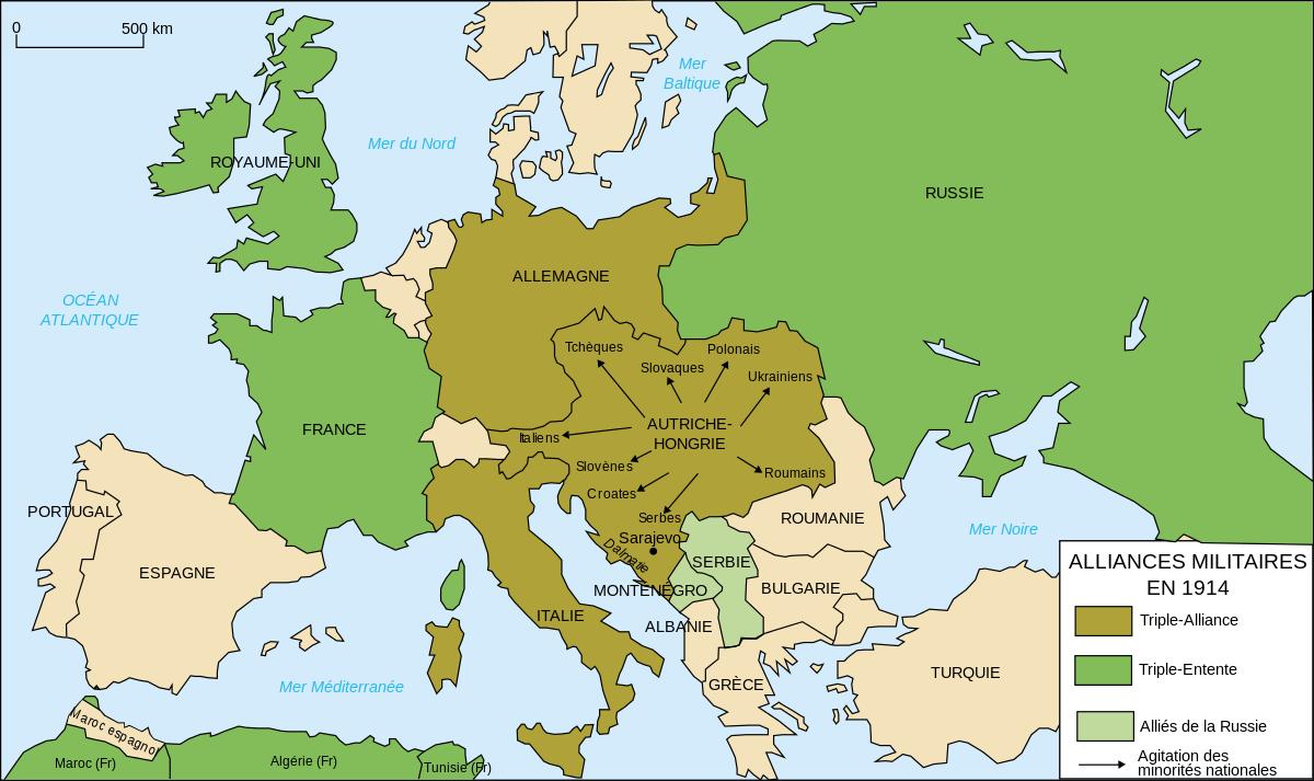 concert europeen carte europe avant 1914