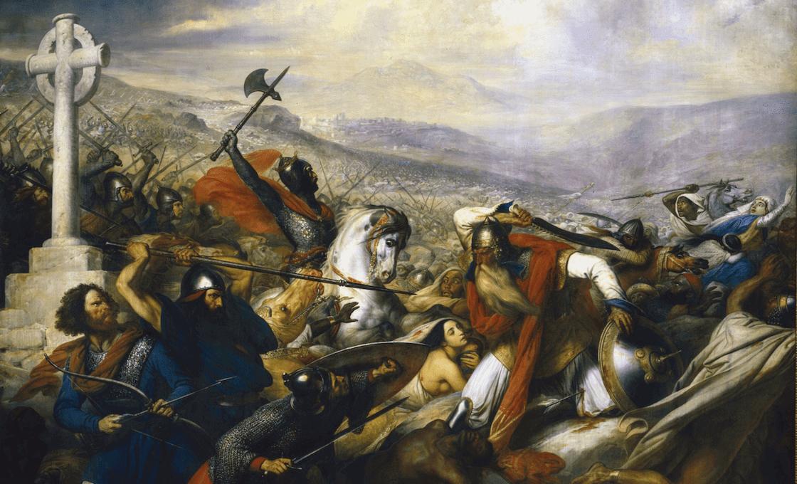 bataille de poitiers tableau mythe 732