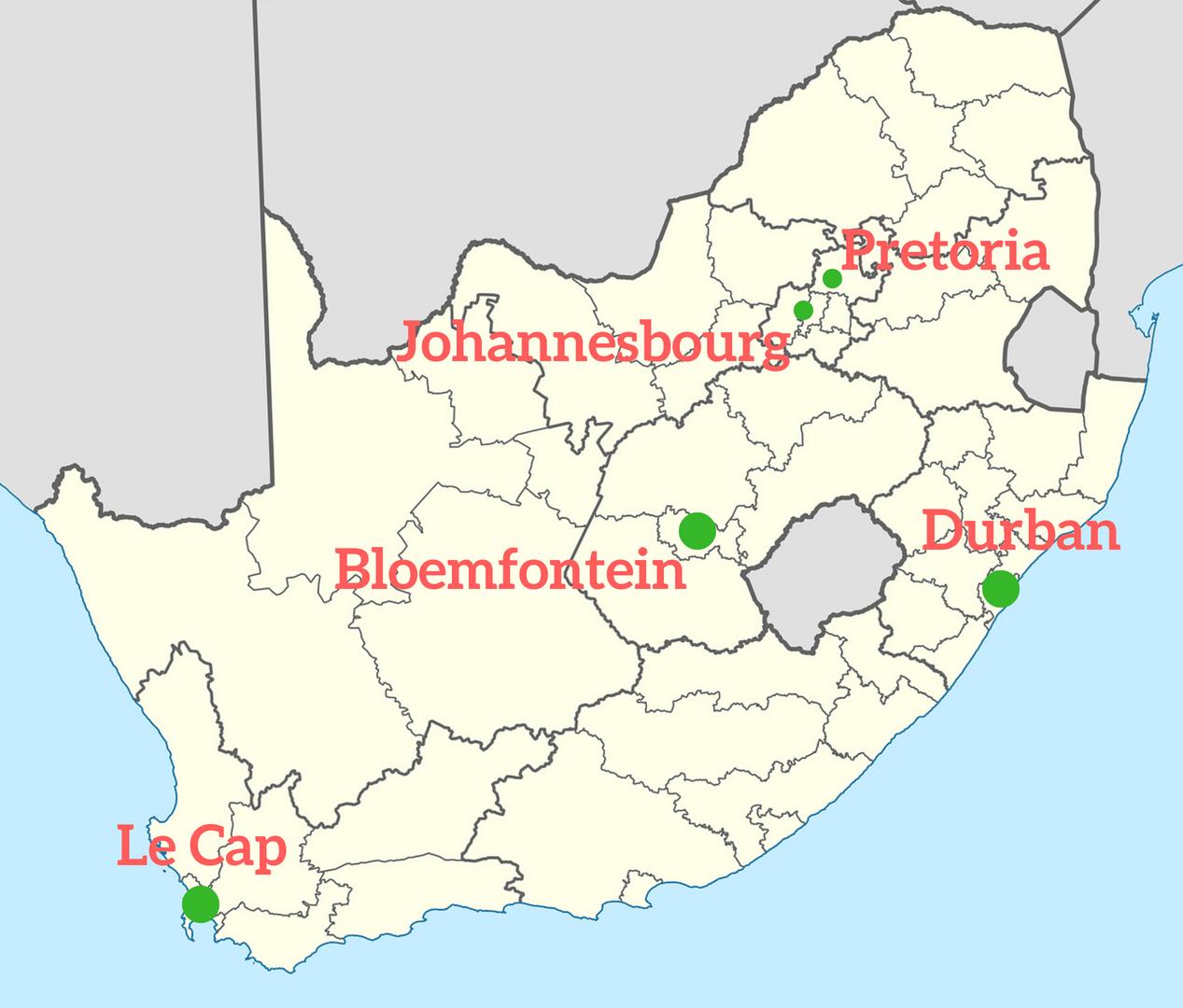 capitale afrique du sud