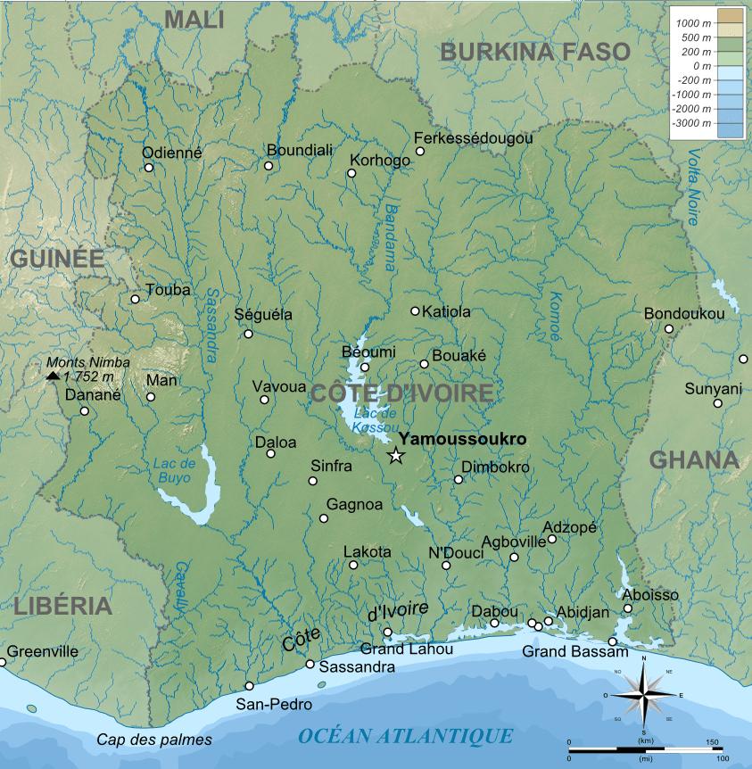 capitale de la côte d'ivoire