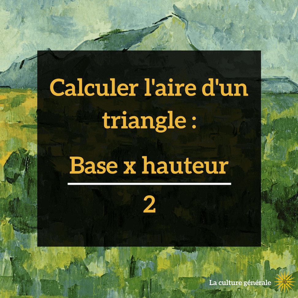 calculer aire triangle