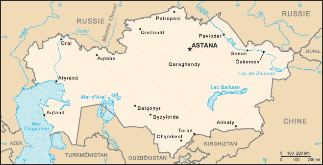 plus grand pays du monde kazakhstan