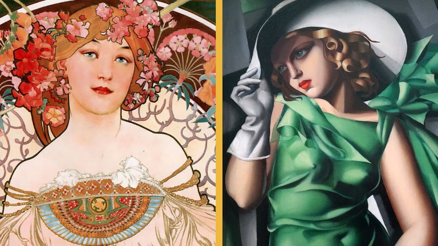 difference art nouveau art deco